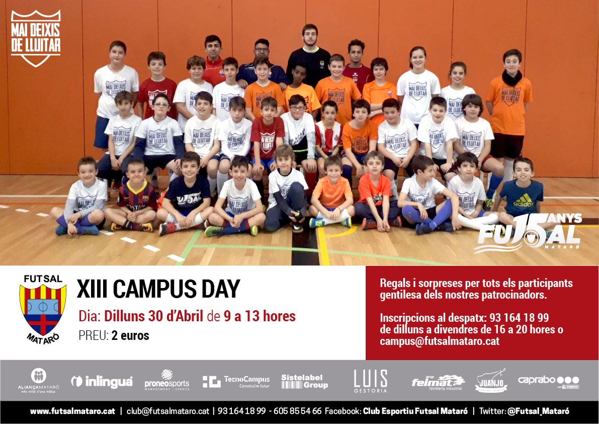 Dilluns 30 D'abril XIII Open Campus Day